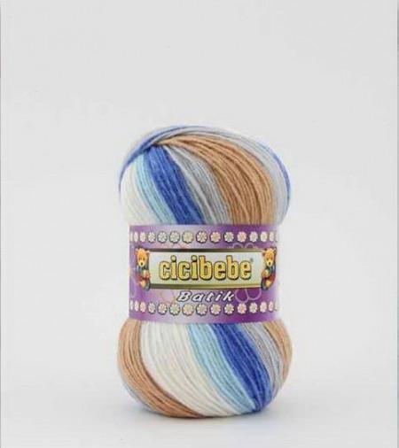 Poze Fir de tricotat sau crosetat - Fire tip mohair din acril Kamgarn Cicibebe Batik degrade 11
