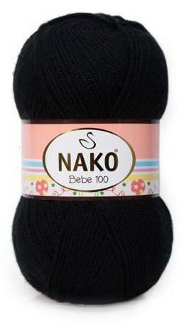 Poze Fir de tricotat sau crosetat - Fire tip mohair din acril Nako Baby Negru 217