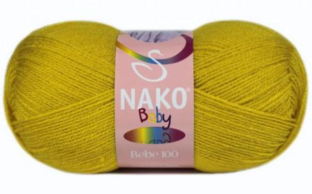 Poze Fir de tricotat sau crosetat - Fire tip mohair din acril Nako Baby MUSTAR 10518