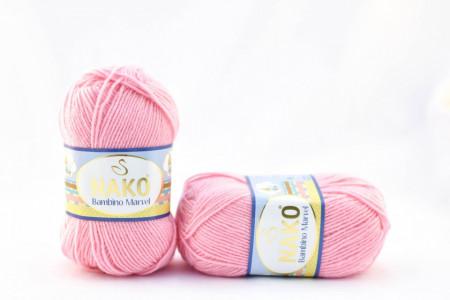 Poze Fir de tricotat sau crosetat - Fire tip mohair din acril Nako Baby MARVEL ROZ 229