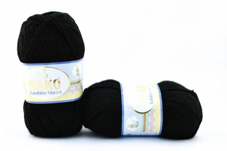 Poze Fir de tricotat sau crosetat - Fire tip mohair din acril Nako Baby MARVEL NEGRU 217
