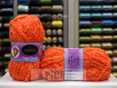 Poze Fir de tricotat sau crosetat - Fire tip mohair din acril NAKO DERYA BOUCLE portocaliu 6189
