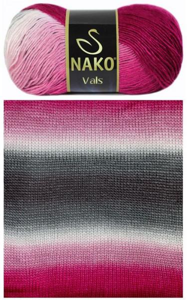 Poze Fir de tricotat sau crosetat - Fire tip mohair din acril premium Nako VALS DEGRADE 86082