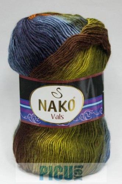 Poze Fir de tricotat sau crosetat - Fire tip mohair din acril premium Nako VALS DEGRADE 86386