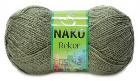 Poze Fir de tricotat sau crosetat - Fire tip mohair din acril premium Nako REKOR KAKI 268