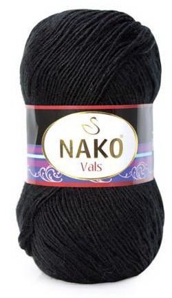 Poze Fir de tricotat sau crosetat - Fire tip mohair din acril premium Nako VALS NEGRU 217