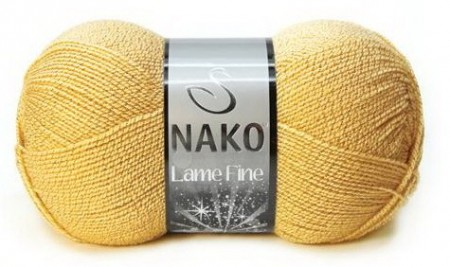 Poze Fir de tricotat sau crosetat - Fire tip mohair din acril si poliester metalic NAKO LAME FINE GALBEN 10248A