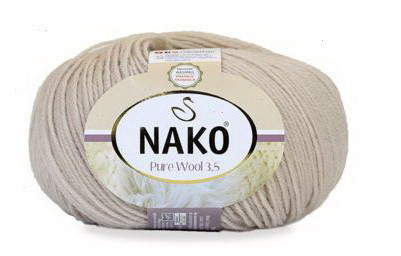 Poze Fir de tricotat sau crosetat - Fire tip mohair din lana 100% Nako PURE WOOL 3,5 BEJ 11784