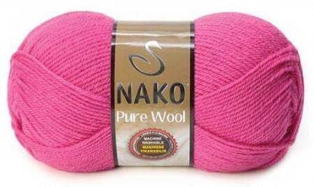Poze Fir de tricotat sau crosetat - Fire tip mohair din lana 100% Nako PURE WOOL ROZ 4569