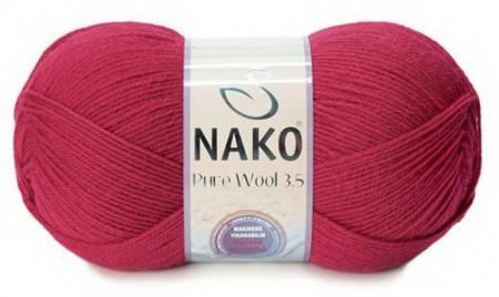 Poze Fir de tricotat sau crosetat - Fire tip mohair din lana 100% Nako PURE WOOL 3,5 ROSU 6814