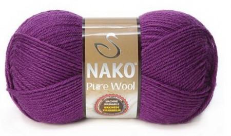 Poze Fir de tricotat sau crosetat - Fire tip mohair din lana 100% Nako PURE WOOL MOV 60