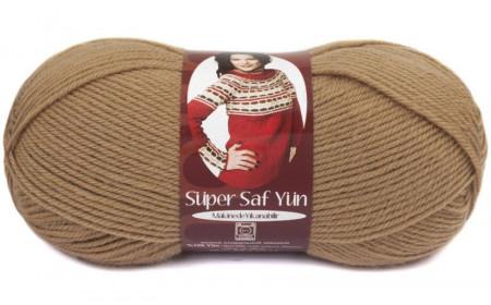Poze Fir de tricotat sau crosetat - Fire tip mohair din lana 100% Nako Super SAF YUN BEJ 221