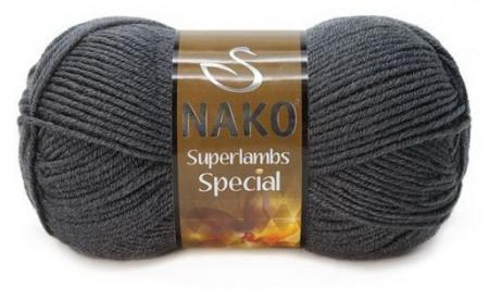 Poze Fir de tricotat sau crosetat - Fire tip mohair din lana 50% si acril 50% Nako Superlambs Special GRI 1937