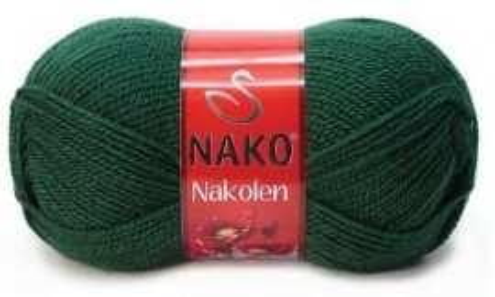Poze Fir de tricotat sau crosetat - Fire tip mohair din lana 50% si acril 50% Nakolen VERDE 3601