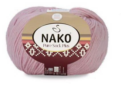 Poze Fir de tricotat sau crosetat - Fire tip mohair din lana si polyamida Nako PURE SOCK PLUS ROZ 10639