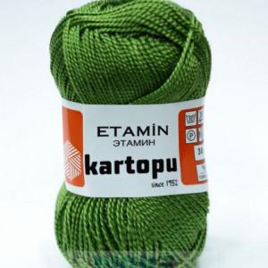 Fir de tricotat,brodat sau crosetat - Fir KARTOPU ETAMIN VERDE - 391