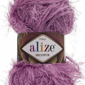 Fir de tricotat sau crosetat - FANCY - ALIZE DECOFUR LILA 264