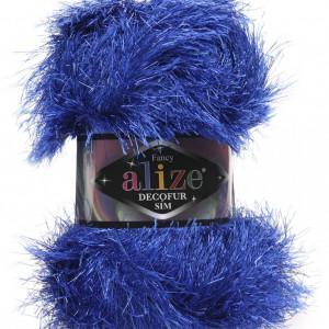 Fir de tricotat sau crosetat - FANCY - ALIZE DECOFUR SIM - ALBASTRU - 141