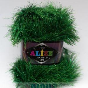 Fir de tricotat sau crosetat - FANCY - ALIZE DECOFUR SIM - VERDE ADS - 595