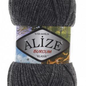 Fir de tricotat sau crosetat - Fir ACRILIC ALIZE BURCUM KLASIK GRI 195