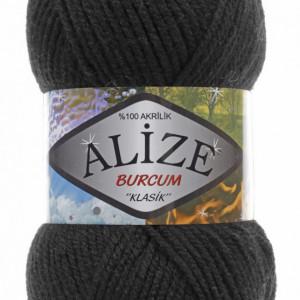 Fir de tricotat sau crosetat - Fir ACRILIC ALIZE BURCUM KLASIK NEGRU 60