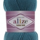 Fir de tricotat sau crosetat - Fir ALIZE COTTON GOLD ALBASTRU 17
