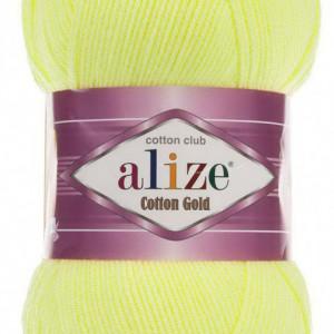 Fir de tricotat sau crosetat - Fir ALIZE COTTON GOLD GALBEN 668