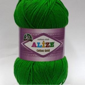 Fir de tricotat sau crosetat - Fir ALIZE COTTON GOLD VERDE 126