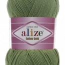 Fir de tricotat sau crosetat - Fir ALIZE COTTON GOLD VERDE 485