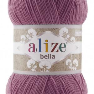 Fir de tricotat sau crosetat - Fir BUMBAC 100% ALIZE BELLA 100 - ROZ 440
