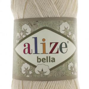 Fir de tricotat sau crosetat - Fir BUMBAC 100% ALIZE BELLA - CREAM 01