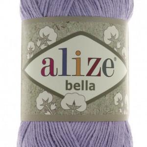 Fir de tricotat sau crosetat - Fir BUMBAC 100% ALIZE BELLA - LILA 158