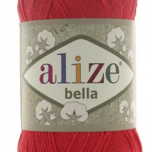 Fir de tricotat sau crosetat - Fir BUMBAC 100% ALIZE BELLA - ROSU 56