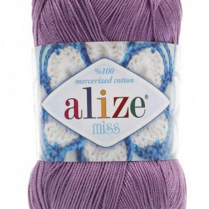 Fir de tricotat sau crosetat - Fir BUMBAC 100% ALIZE MISS MOV 247