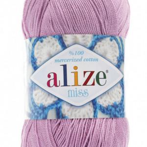 Fir de tricotat sau crosetat - Fir BUMBAC 100% ALIZE MISS ROZ 474