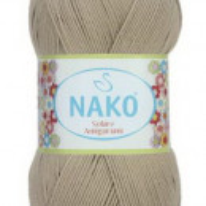Fir de tricotat sau crosetat - Fir BUMBAC 100% NAKO SOLARE AMIGURUMI BEJ 257