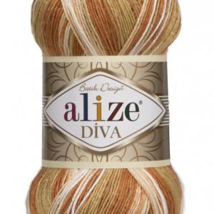 Fir de tricotat sau crosetat - Fir microfibra ALIZE DIVA BATIK DEGRADE 7112