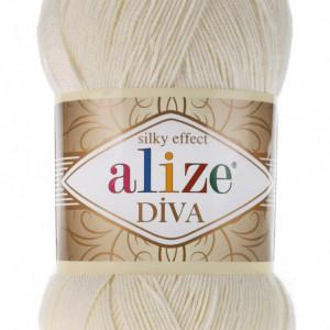 Fir de tricotat sau crosetat - Fir microfibra ALIZE DIVA BEJ 383