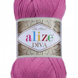 Fir de tricotat sau crosetat - Fir microfibra ALIZE DIVA LILA 378