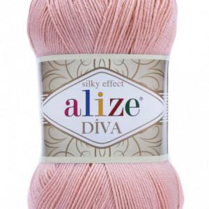 Fir de tricotat sau crosetat - Fir microfibra ALIZE DIVA ROZ 363