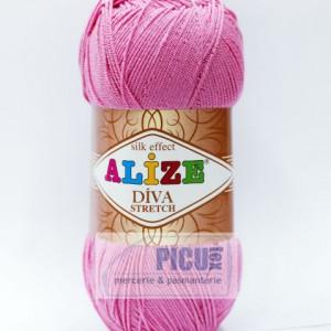 Fir de tricotat sau crosetat - Fir microfibra ALIZE DIVA STRETCH ROZ 178