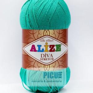 Fir de tricotat sau crosetat - Fir microfibra ALIZE DIVA STRETCH TURQUAZ 610