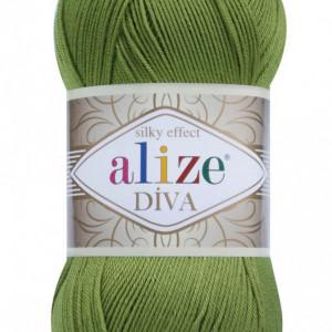 Fir de tricotat sau crosetat - Fir microfibra ALIZE DIVA VERDE 210