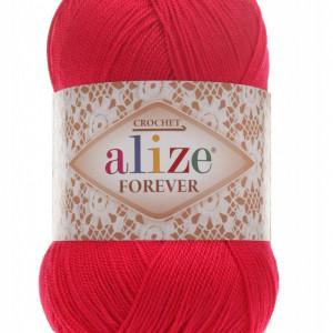 Fir de tricotat sau crosetat - Fir microfibra ALIZE FOREVER ROSU 396