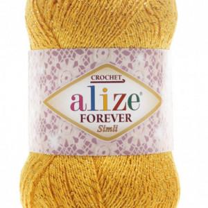 Fir de tricotat sau crosetat - Fir microfibra ALIZE FOREVER SIMLI GALBEN 488