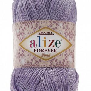 Fir de tricotat sau crosetat - Fir microfibra ALIZE FOREVER SIMLI LILA 158