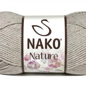 Fir de tricotat sau crosetat - Fire amestec Bumbac + Acril + Vascoza NAKO NATURE GRI 3079