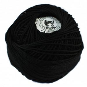 Fir de tricotat sau crosetat - Fire Bumbac 100% ANGELICA ROMANOFIR BOBINA NEGRU 1201