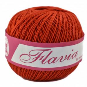 Fir de tricotat sau crosetat - Fire Bumbac 100% FLAVIA ROMANOFIR BOBINA ROSU 1332