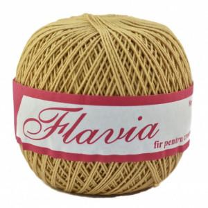 Fir de tricotat sau crosetat - Fire Bumbac 100% FLAVIA ROMANOFIR BOBINA BEJ 6P